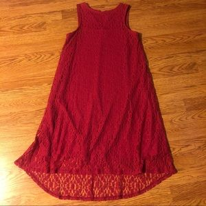 NWOT! Pink Sleeveless Dress with Lace Over…